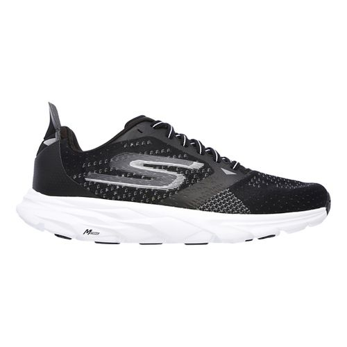 Mens Skechers GO Run Ride 6 Running Shoe - Black/White 8.5