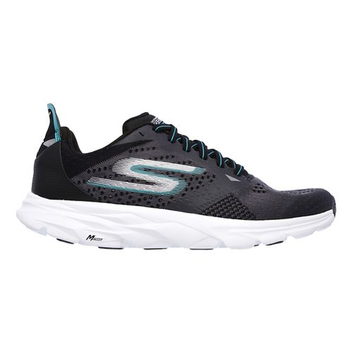 Mens Skechers GO Run Ride 6 Running Shoe - Charcoal/Turquoise 13