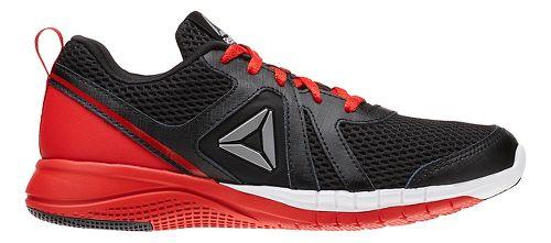 Reebok Print Run 2.0 Running Shoe - Black/Red 4.5Y