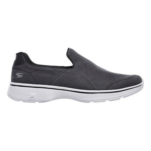 Mens Skechers GO Walk 4- Magnificent Casual Shoe - Black/Grey 9