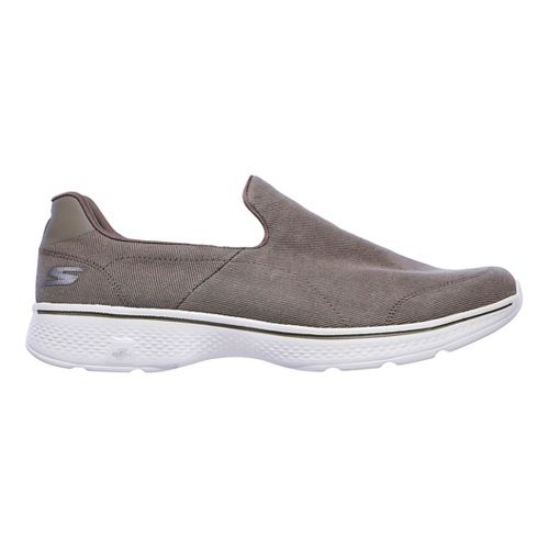 Mens Skechers GO Walk 4- Magnificent Casual Shoe - Khaki 10