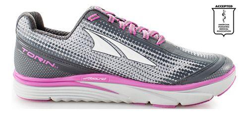 Womens Altra Torin 3.0 Running Shoe - Grey/Pink 6.5