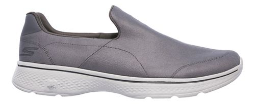 Mens Skechers GO Walk 4 - Remarkable Casual Shoe - Charcoal 9