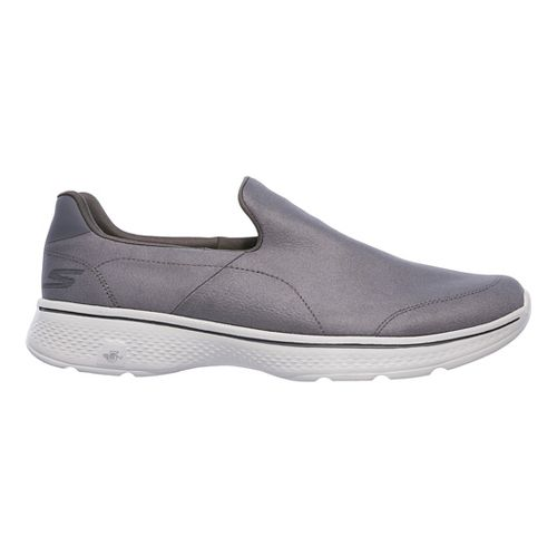 Mens Skechers GO Walk 4 - Remarkable Casual Shoe - Charcoal 12