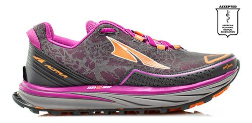 Womens Altra Timp Trail Running Shoe - Grey/Purple 9.5