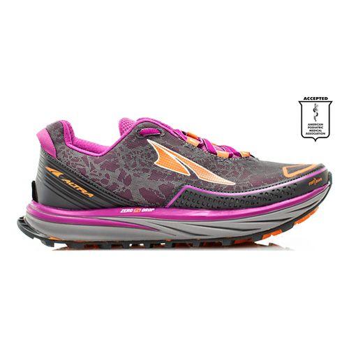 Womens Altra Timp Trail Running Shoe - Grey/Purple 10