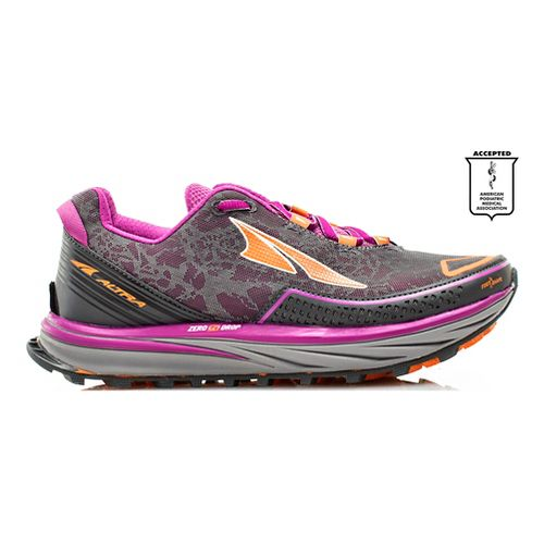 Womens Altra Timp Trail Running Shoe - Grey/Purple 11