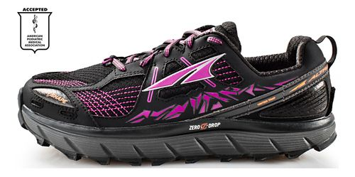 Womens Altra Lone Peak 3.5 Trail Running Shoe - Black/Purple 8