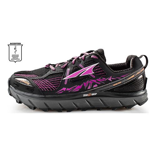 Womens Altra Lone Peak 3.5 Trail Running Shoe - Black/Purple 8.5