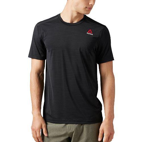 Mens Reebok ACTVChill Full Short Sleeve Technical Tops - Black XL