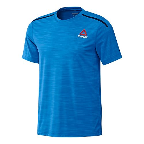 Mens Reebok ACTVChill Full Short Sleeve Technical Tops - Blue L