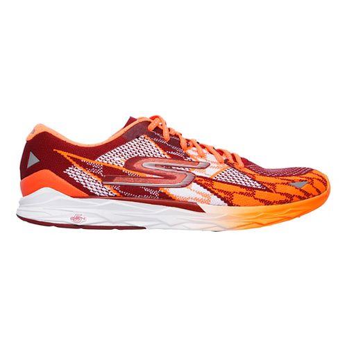 Mens Skechers GOmeb Speed 4 Running Shoe - Red/Orange 10.5
