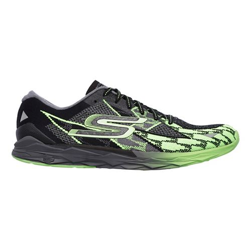 Mens Skechers GOmeb Speed 4 Running Shoe - Black/Green 10.5