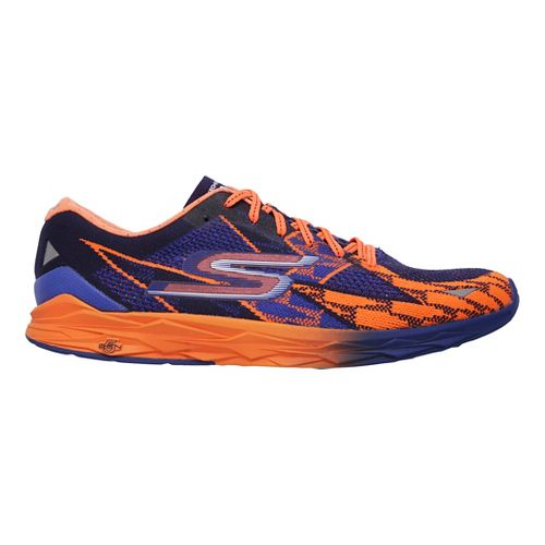 Mens Skechers GOmeb Speed 4 Running Shoe - Blue/Orange 14