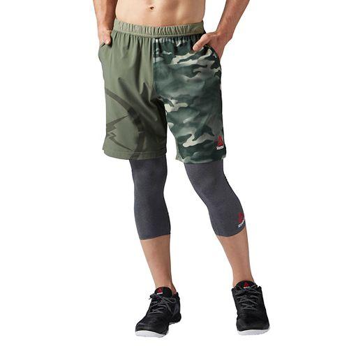 Mens Reebok Camo Speed Unlined Shorts - Hunter Green M