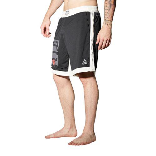 Mens Reebok Combat Boxing Unlined Shorts - Black XL
