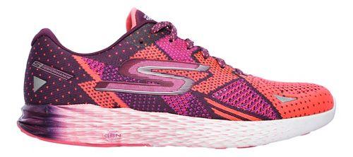 Womens Skechers GO Meb Razor Running Shoe - Purple/Pink 8.5