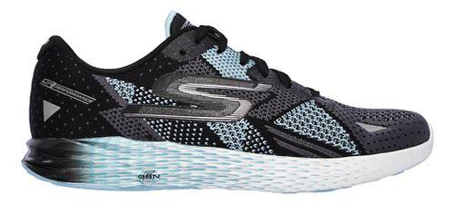 Womens Skechers GO Meb Razor Running Shoe - Black/Aqua 6