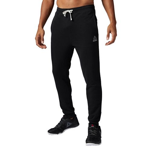 Mens Reebok Elements French Terry Cuffed Pants - Black S