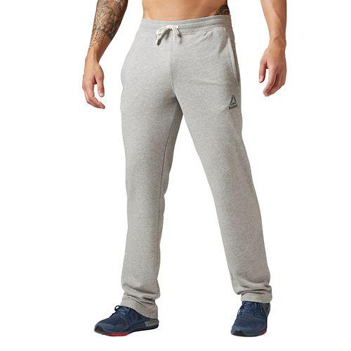 Mens Reebok Elements French Terry Open Hem Pants - Grey Heather M
