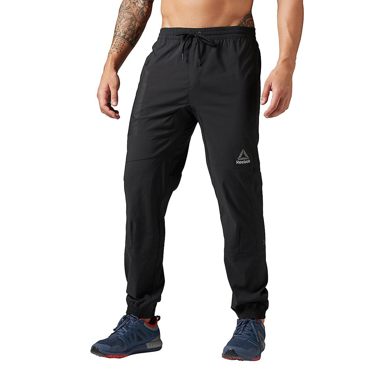 Mens Reebok Elite Woven Jogger Pants At Road Runner Sports
