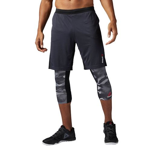 Mens Reebok Graphic Unlined Shorts - Lead L