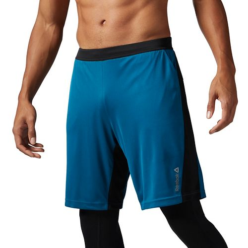 Mens Reebok Graphic Unlined Shorts - Emerald Tide L