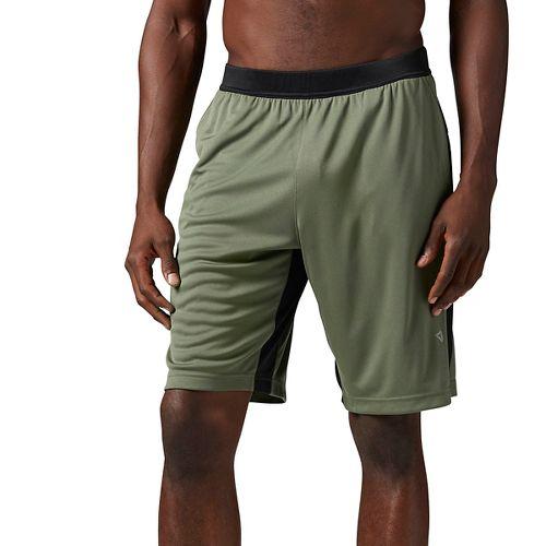 Mens Reebok Graphic Unlined Shorts - Hunter Green L