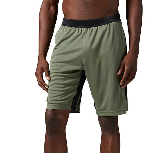 Mens Reebok Graphic Unlined Shorts - Hunter Green S