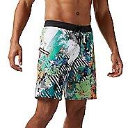 Mens Reebok CrossFit Super Nasty Floral Board Unlined Shorts