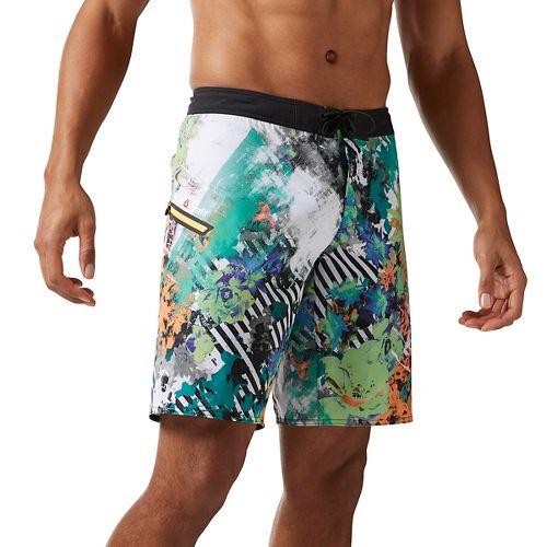 Mens Reebok CrossFit Super Nasty Floral Board Unlined Shorts - Kiwi Green 42