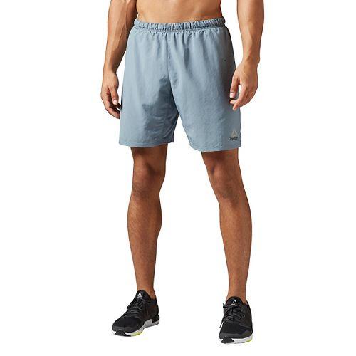 Mens Reebok Running 2-in-1 Shorts - Stonewash S