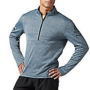 Mens Reebok Running Long Sleeve 1/2 Zip Half-Zips & Hoodies Technical Tops
