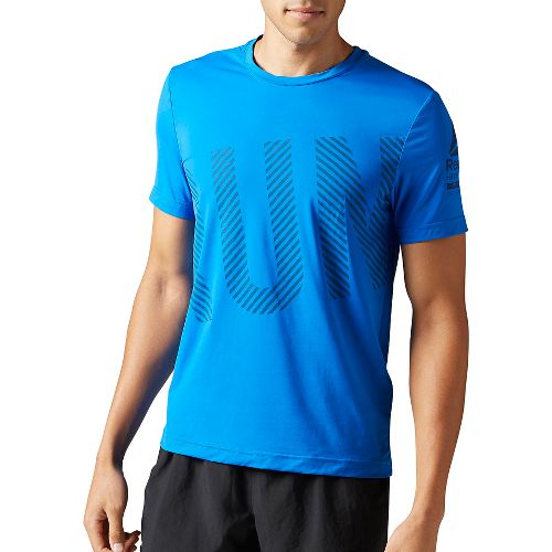 Mens Reebok Running ACTIVChill Tee Short Sleeve Technical Tops - Blue M