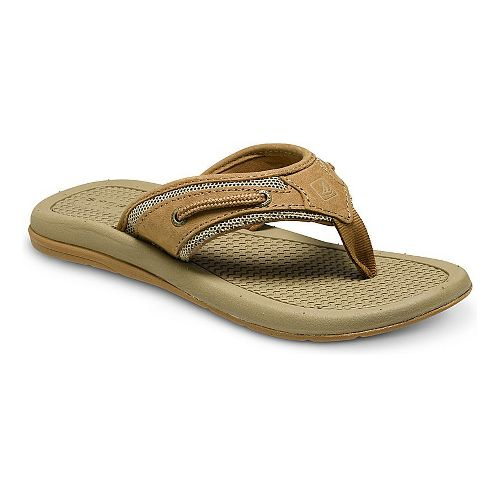 Sperry Top-Sider Billfish Thong Sandals Shoe - Dark Tan 12C
