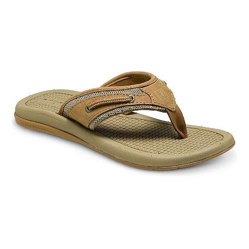 Sperry Top-Sider Billfish Thong Sandals Shoe - Dark Tan 2Y