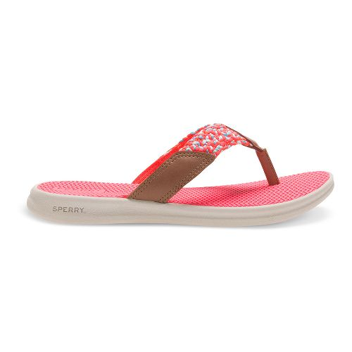 Sperry Top-Sider Seacove Sandals Shoe - Dark Tan/Coral 1Y