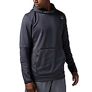 Mens Reebok Brushed Fleece Half-Zips & Hoodies Technical Tops