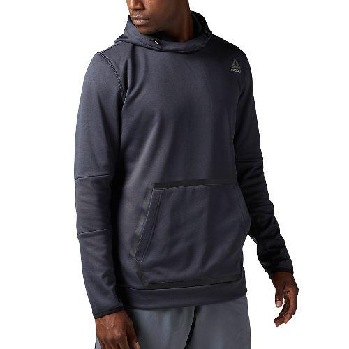 Mens Reebok Brushed Fleece Half-Zips & Hoodies Technical Tops - Lead M