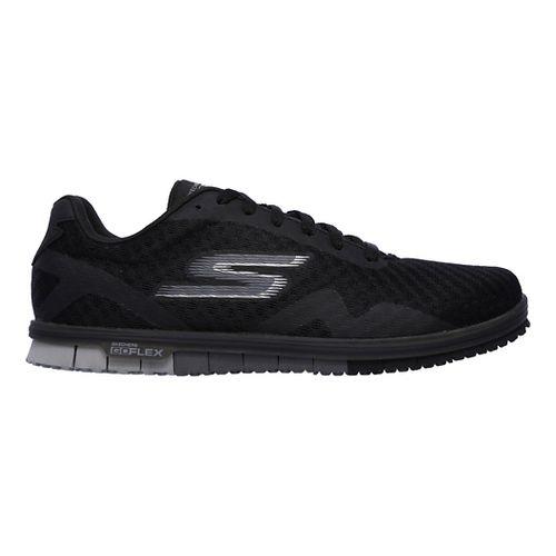 Womens Skechers GO Mini Flex - Speedy Walking Shoe - Black/Grey 5.5