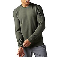 Mens Reebok Quick Cotton Crew Sweatshirt Long Sleeve Technical Tops