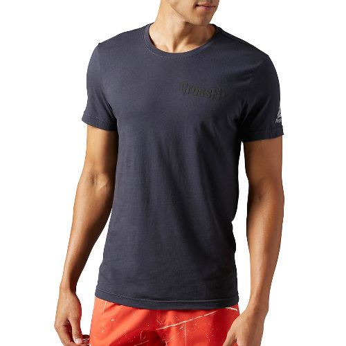 Mens Reebok CrossFit Athena Tee Short Sleeve Technical Tops - Lead M