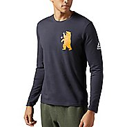 Mens Reebok CrossFit Bear Shirt Long Sleeve Technical Tops