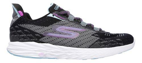 Womens Skechers GO Run 5 Running Shoe - Black/Charcoal 9