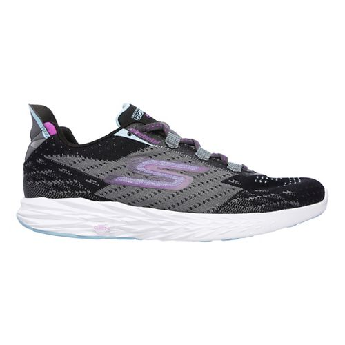 Womens Skechers GO Run 5 Running Shoe - Black/Charcoal 10