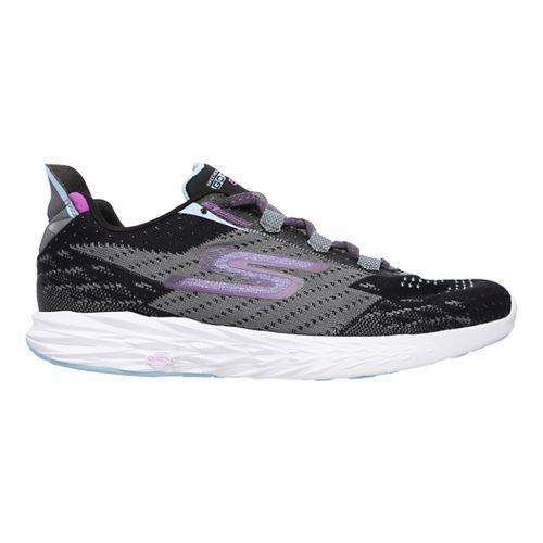 Womens Skechers GO Run 5 Running Shoe - Black/Charcoal 6.5