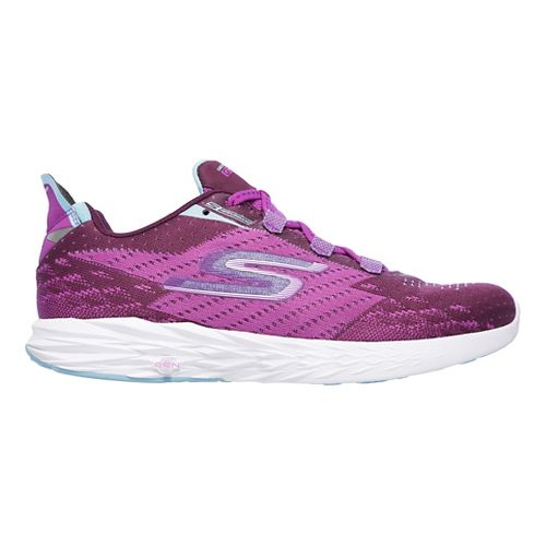 Womens Skechers GO Run 5 Running Shoe - Purple 10