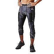 Mens Reebok CrossFit 3/4 Compression Tights & Leggings Pants