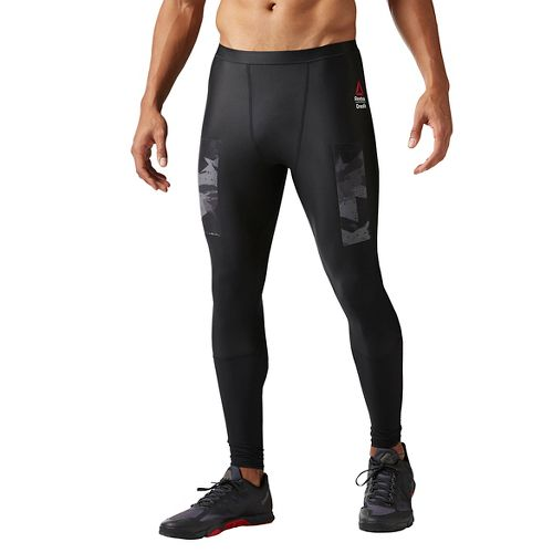 Mens Reebok CrossFit Compression Solid Tights & Leggings Pants - Black M