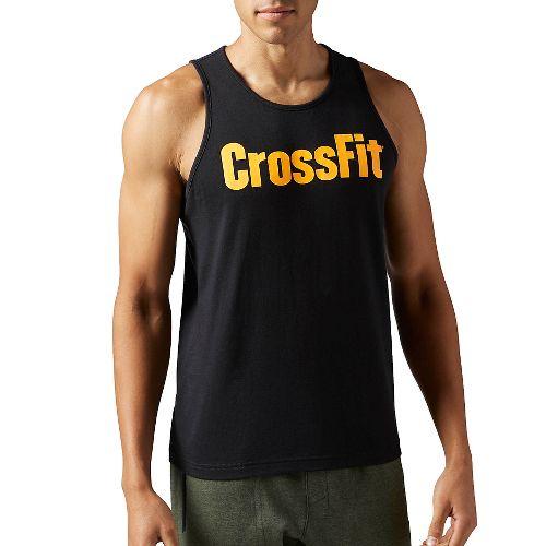 Mens Reebok CrossFit Forging Elite Fitness Sleeveless & Tank Tops Technical Tops - Black M ...
